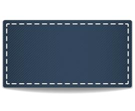 blaues etikett